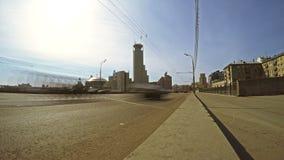 De straat van Moskou timelapse stock video