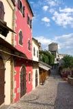De straat van Mostar Stock Foto