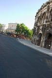 De straat van Nîmes toneel Stock Foto's