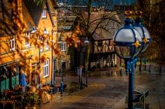 De straat van Nottingham stock afbeeldingen