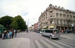 De straat van Oslo Royalty-vrije Stock Afbeelding
