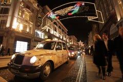 De Straat van Oxford bij nacht Stock Foto