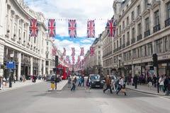 De Straat van Oxford, Londen Stock Afbeeldingen