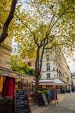De straat van Parijs in Les Halles -district Royalty-vrije Stock Fotografie