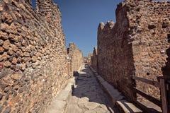 De straat van Pompei Stock Afbeeldingen
