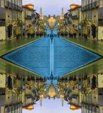 De Straat van Porto in Portugal, beeldtransformatie stock afbeelding