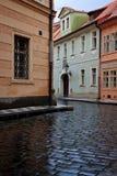 De straat van Praag Stock Foto's