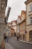 De straat van Praag Stock Foto