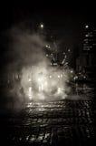 De straat van Praag van de nacht Stock Afbeeldingen