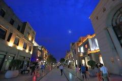 De straat van Qianmen Stock Afbeelding