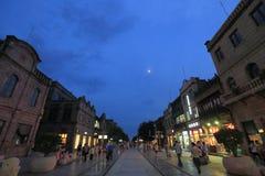 De straat van Qianmen Stock Afbeeldingen