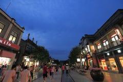 De straat van Qianmen Stock Foto's