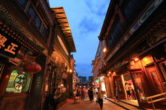 De straat van Qianmen Stock Fotografie