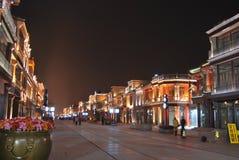 De Straat van Qianmen in Peking Royalty-vrije Stock Fotografie