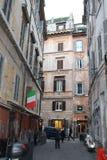 De straat van Rome, hoofdstad Italië Royalty-vrije Stock Foto