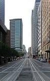 De straat van San Francisco in wit wordt geïsoleerd dat Royalty-vrije Stock Foto