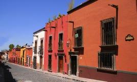 De straat van San Miguel de allende Royalty-vrije Stock Fotografie