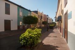 De straat van San Sebastian de La Gomera Stock Afbeeldingen