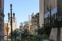 De straat van Sao Paulo Royalty-vrije Stock Fotografie