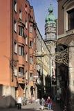 De Straat van Seilergasse in Innsbruck Stock Fotografie