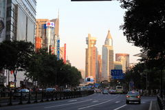 De Straat van Shanghai Stock Afbeelding