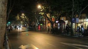 De straat van Shanghai van manierontwerpers stock footage
