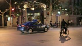 De straat van Shanghai van manierontwerpers stock videobeelden