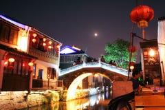 De straat van Shantang bij suzhou Stock Foto's