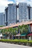 De straat van Singapore Stock Afbeeldingen