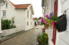 De straat van Stavanger Royalty-vrije Stock Afbeeldingen