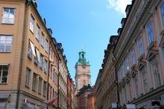 De straat van Stockholm. Royalty-vrije Stock Foto