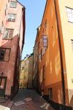 De straat van Stockholm Stock Foto