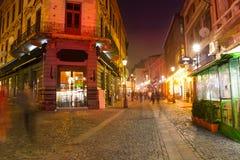 De straat van Stradaeelari in Boekarest, Roemenië Royalty-vrije Stock Afbeelding