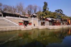 De straat van Suzhou in het paleis van de Zomer van Peking Stock Foto