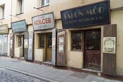 De Straat van Szeroka - Krakau stock afbeeldingen