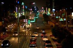 De straat van Taiwan bij nacht Stock Foto