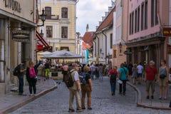 In de straat van Tallinn Stock Afbeelding