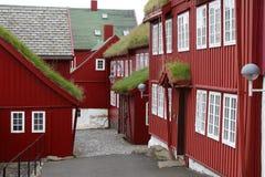 De straat van Torshaven Stock Foto