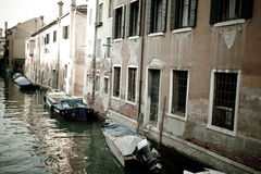 De straat van Venetië Stock Foto