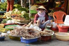 De straat van Vietnam Phu Quoc maket Stock Afbeelding