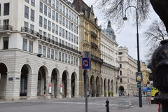 De straat van Wenen Stock Afbeeldingen