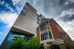 202 de Straat van York en het Loria-Centrum, op de campus van Yale Univ Stock Afbeelding