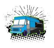 De straatart. van de voedselvrachtwagen Stock Afbeeldingen
