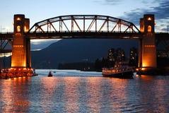 De straatbrug van Burrard in Vancouver Royalty-vrije Stock Fotografie