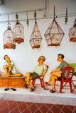 De straatkunst of graffiti van Tiongbahru op de muur Royalty-vrije Stock Afbeelding