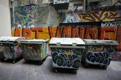 De straatkunst is één van de belangrijkste toeristenaantrekkelijkheid in Melbourne Stock Fotografie