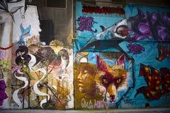 De Straatkunst van Melbourne (Grafiti) Royalty-vrije Stock Afbeeldingen