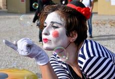 De straatkunstenaar van de clown in Italië Royalty-vrije Stock Afbeelding