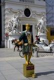 De straatkunstenaar van Wenen Stock Foto