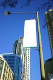 De straatlantaarnbanner van de stad Stock Afbeeldingen